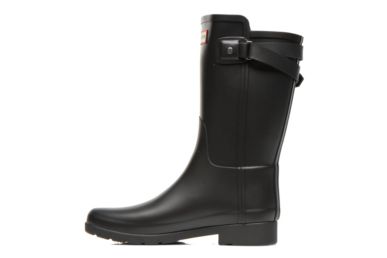 Boots en enkellaarsjes Hunter Original refined Back Strap Short Zwart voorkant
