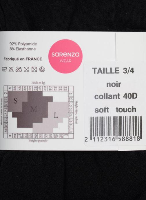 Chaussettes et collants Sarenza Wear Collant soft touch Noir vue face