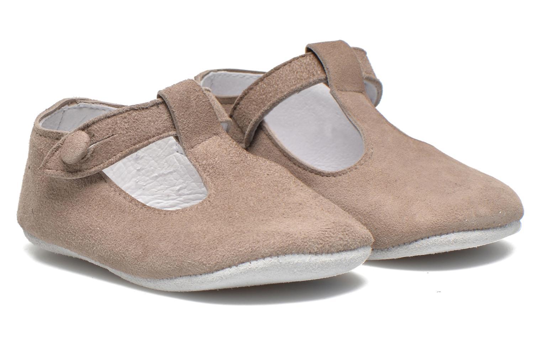 Hjemmesko Start Rite Baby Edward Grå detaljeret billede af skoene