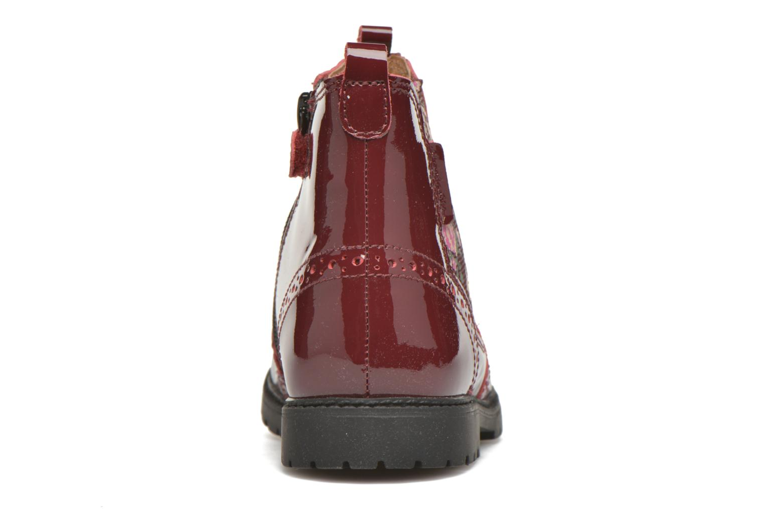 Ankle boots Start Rite Chelsea Burgundy view from the right