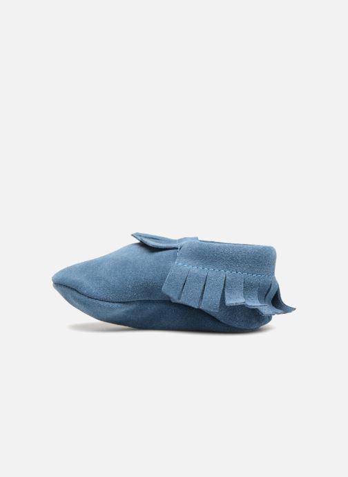 Pantofole Hippie Ya Mocassins Daim Azzurro immagine frontale