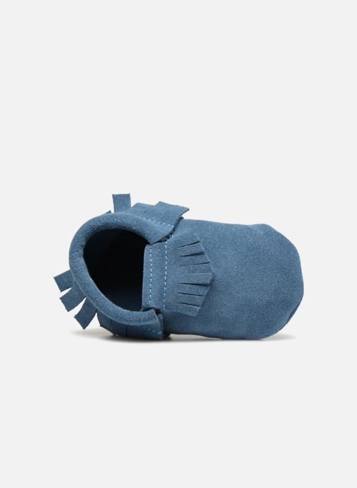 Slippers Hippie Ya Mocassins Daim Blue view from the left