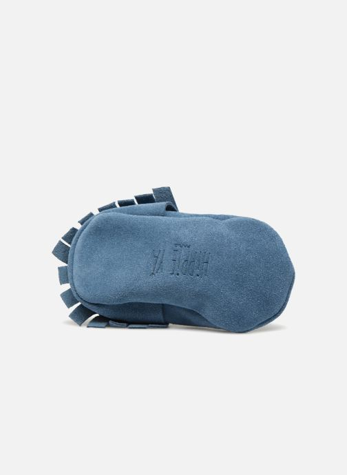 Slippers Hippie Ya Mocassins Daim Blue view from above