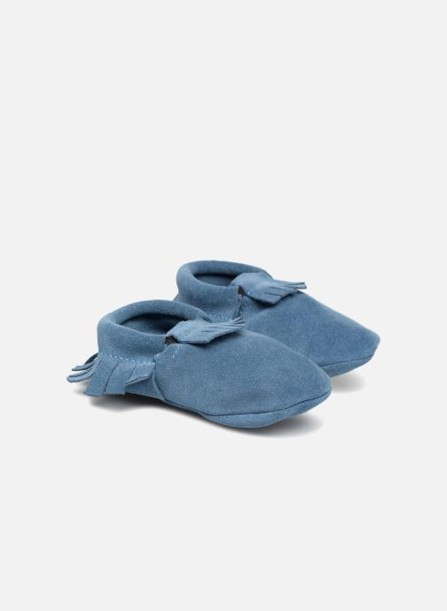 Slippers Hippie Ya Mocassins Daim Blue detailed view/ Pair view