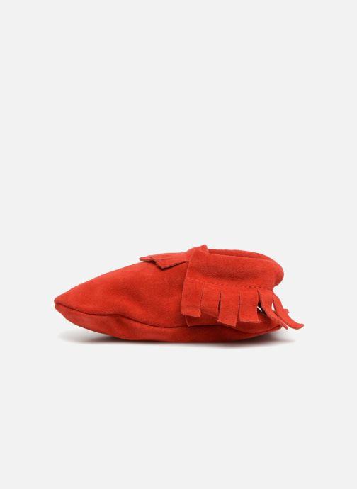 Slippers Hippie Ya Mocassins Daim Red front view