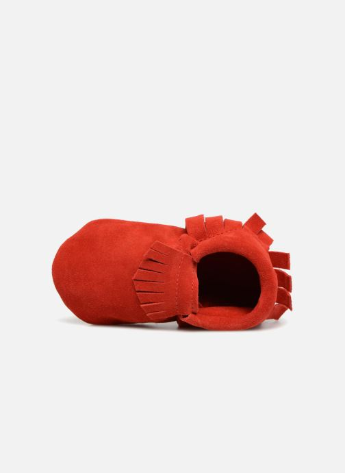 Slippers Hippie Ya Mocassins Daim Red view from the left