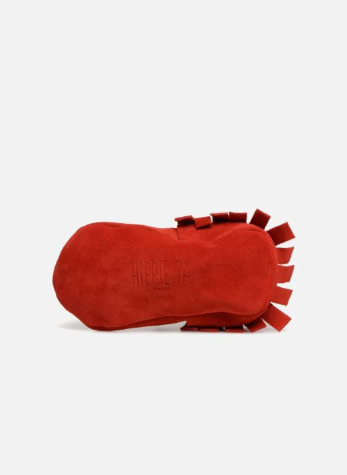 Slippers Hippie Ya Mocassins Daim Red view from above