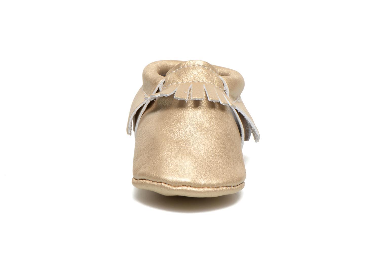 Hausschuhe Hippie Ya Mocassins Platinum gold/bronze schuhe getragen
