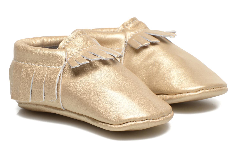 Hausschuhe Hippie Ya Mocassins Platinum gold/bronze detaillierte ansicht/modell