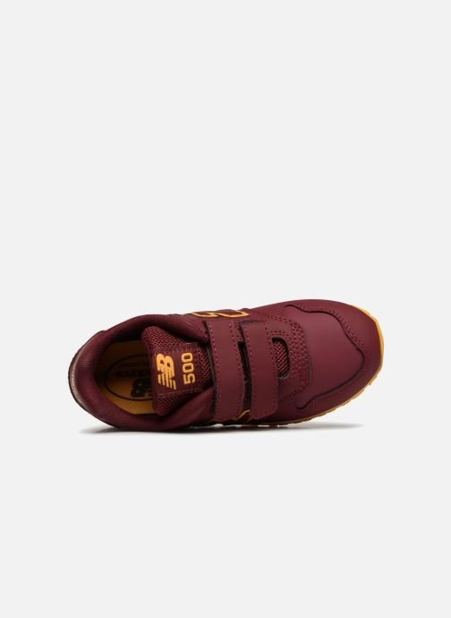 Trainers New Balance KV500 Burgundy view from the left