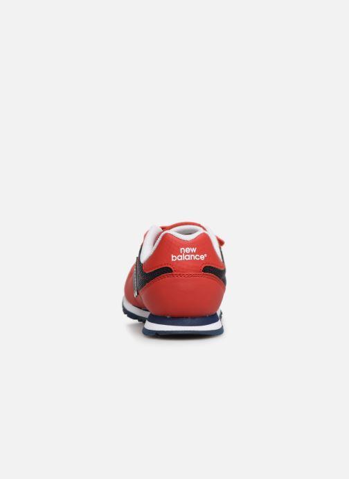 Deportivas New Balance KV500 Rojo vista lateral derecha