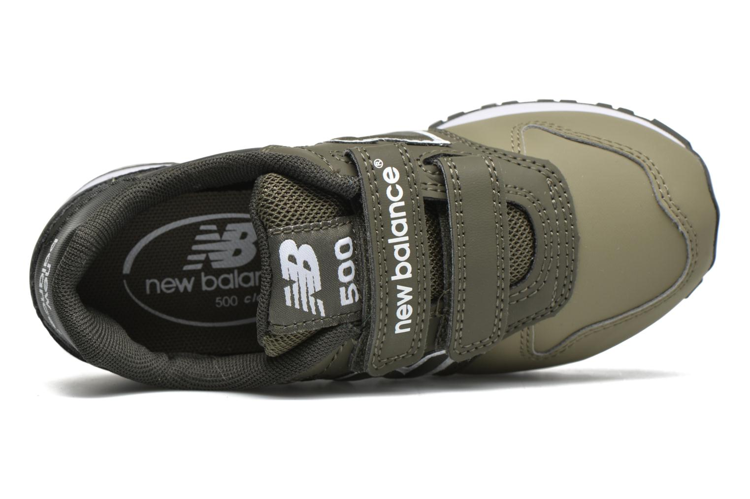 Trainers New Balance KV500 Green view from the left