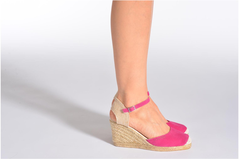 Sandalen Les Tropéziennes par M Belarbi Cloclo rosa ansicht von unten / tasche getragen