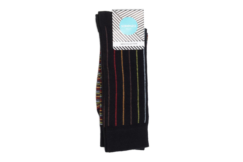 Chaussettes et collants Sarenza Wear Chaussettes Rayures Pack de 2 Multicolore vue face