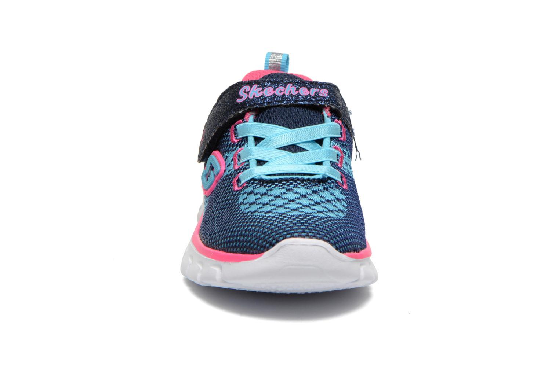 Baskets Skechers Synergy Lil Bubbly Bleu vue portées chaussures
