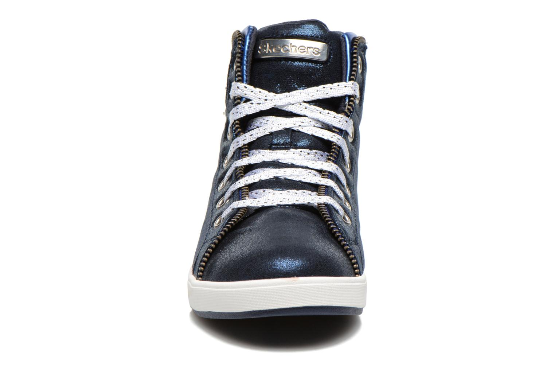 Baskets Skechers Shoutouts Zipsters Bleu vue portées chaussures