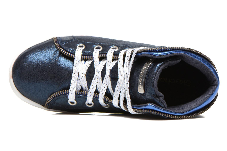 Baskets Skechers Shoutouts Zipsters Bleu vue gauche