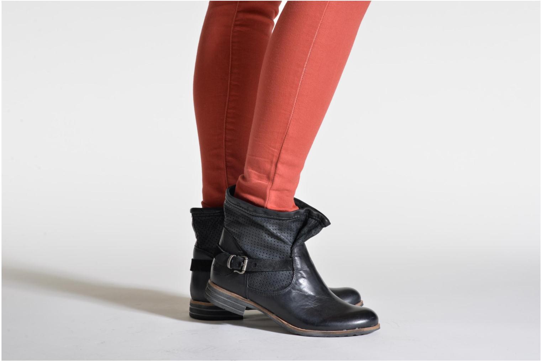 Bottines et boots Bunker Esther Mine Marron vue bas / vue portée sac