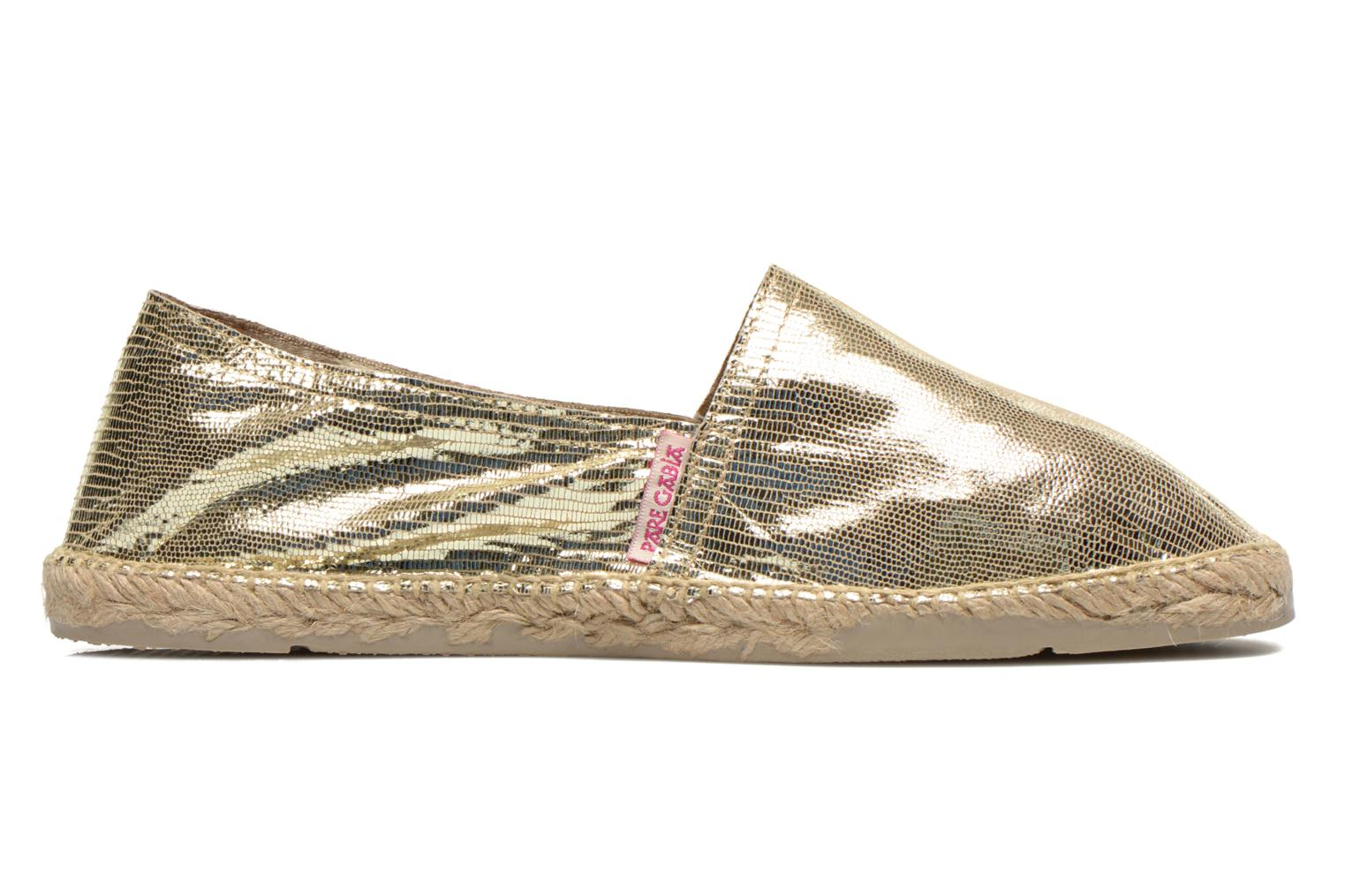 Espadrilles Pare Gabia VP Cuir Bronze and Gold back view
