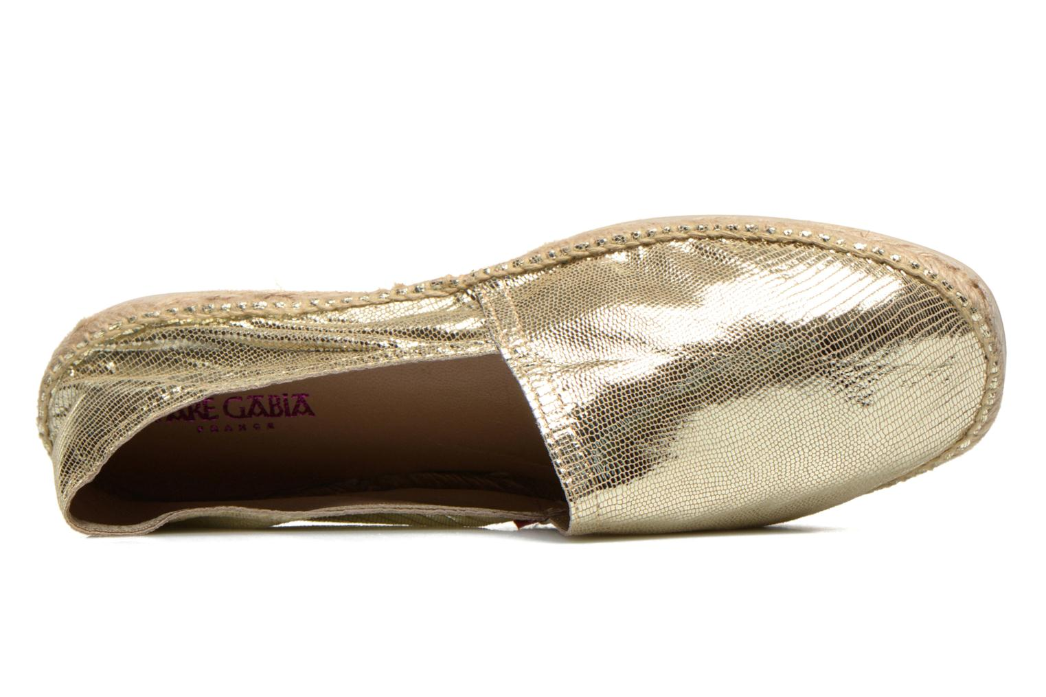 Espadrilles Pare Gabia VP Cuir Bronze and Gold view from the left