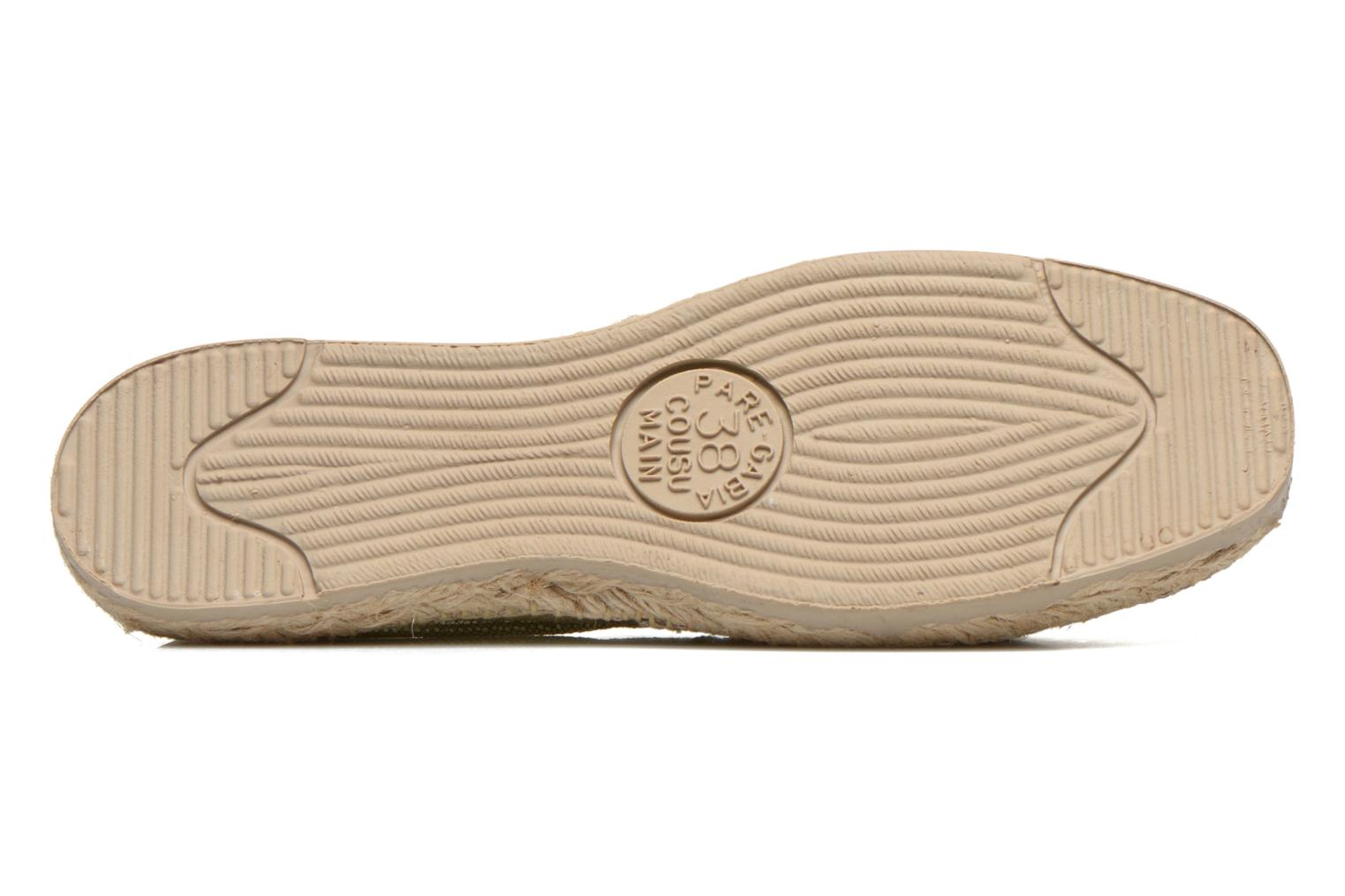 Espadrilles Pare Gabia VP Cuir Bronze and Gold view from above