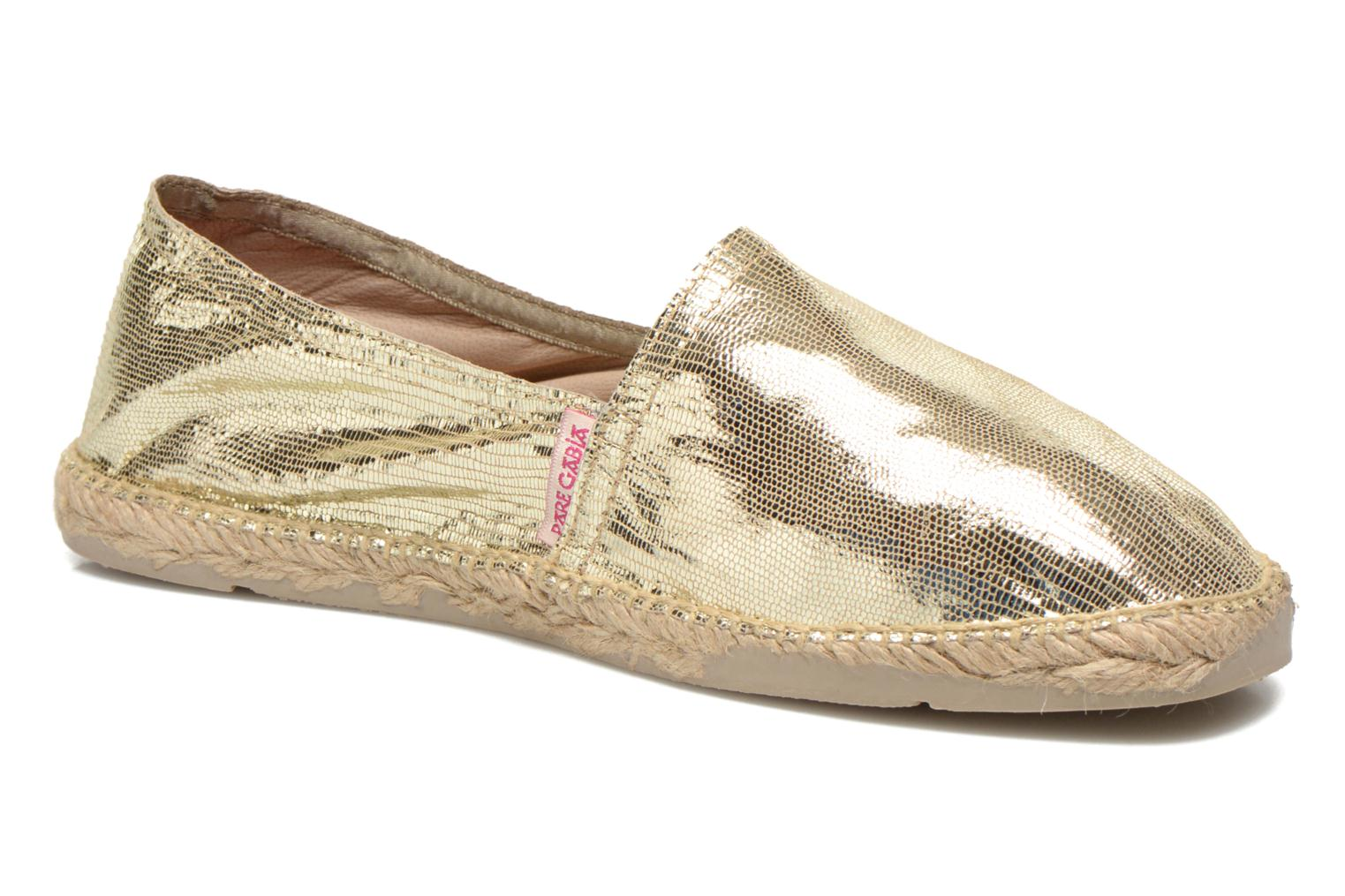 Espadrilles Pare Gabia VP Cuir Bronze and Gold detailed view/ Pair view