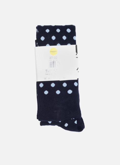 Chaussettes et collants Sarenza Wear Collant pois Bleu vue face