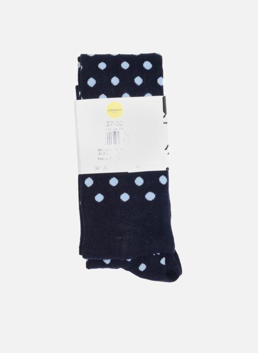 Chaussettes et collants Sarenza Wear Collant pois Bleu vue face