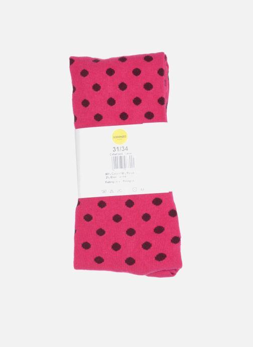 Socken & Strumpfhosen Sarenza Wear Strumpfhose pois rosa ansicht von vorne