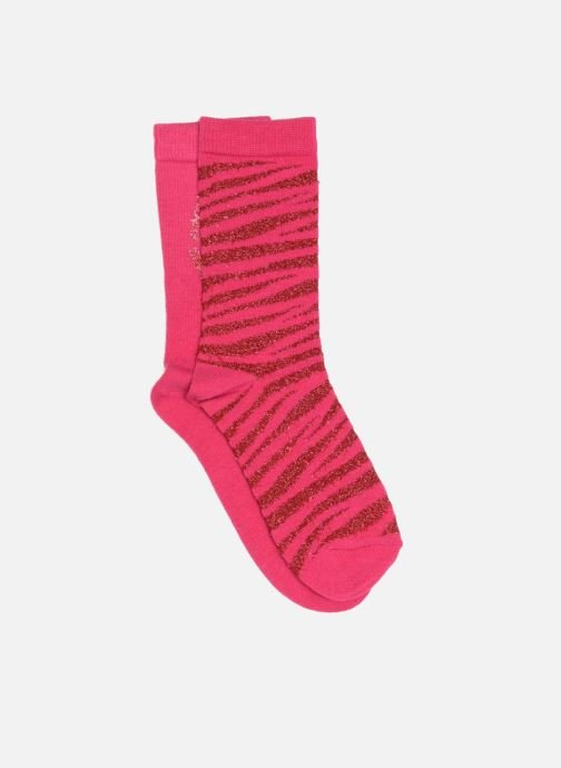 Socks & tights Sarenza Wear Socks uni & léopard Pack of 2 Pink front view
