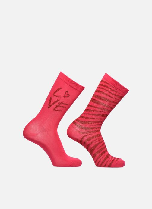 Socks & tights Sarenza Wear Socks uni & léopard Pack of 2 Pink detailed view/ Pair view