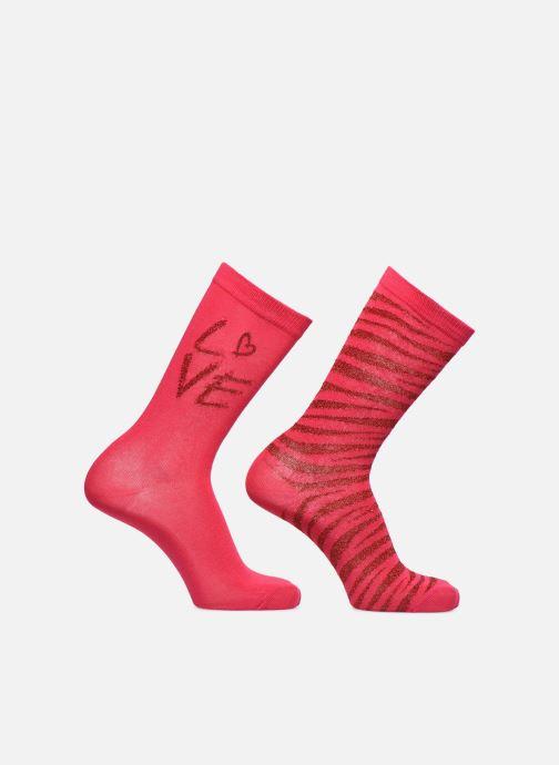 Socken & Strumpfhosen Sarenza Wear Socken uni & léopard 2er-Pack rosa detaillierte ansicht/modell