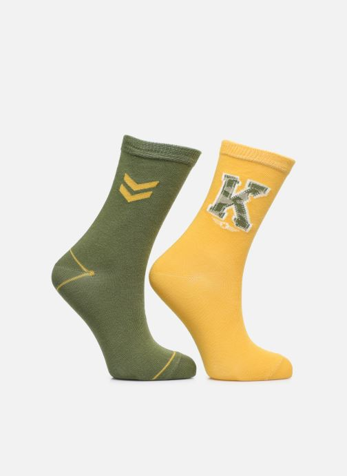Socks & tights Sarenza Wear Socks Chevrons Pack of 2 Green detailed view/ Pair view