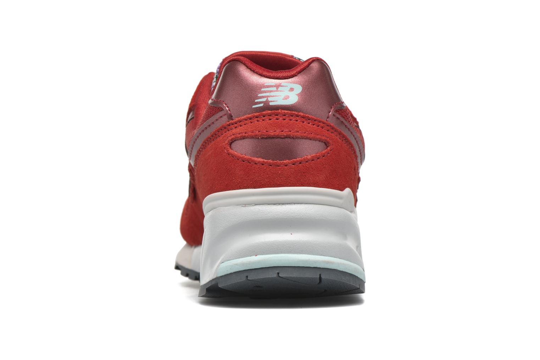 Baskets New Balance WL999 Rouge vue droite