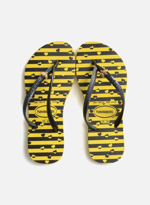 Zehensandalen Havaianas Kids Slim Bugs gelb schuhe getragen