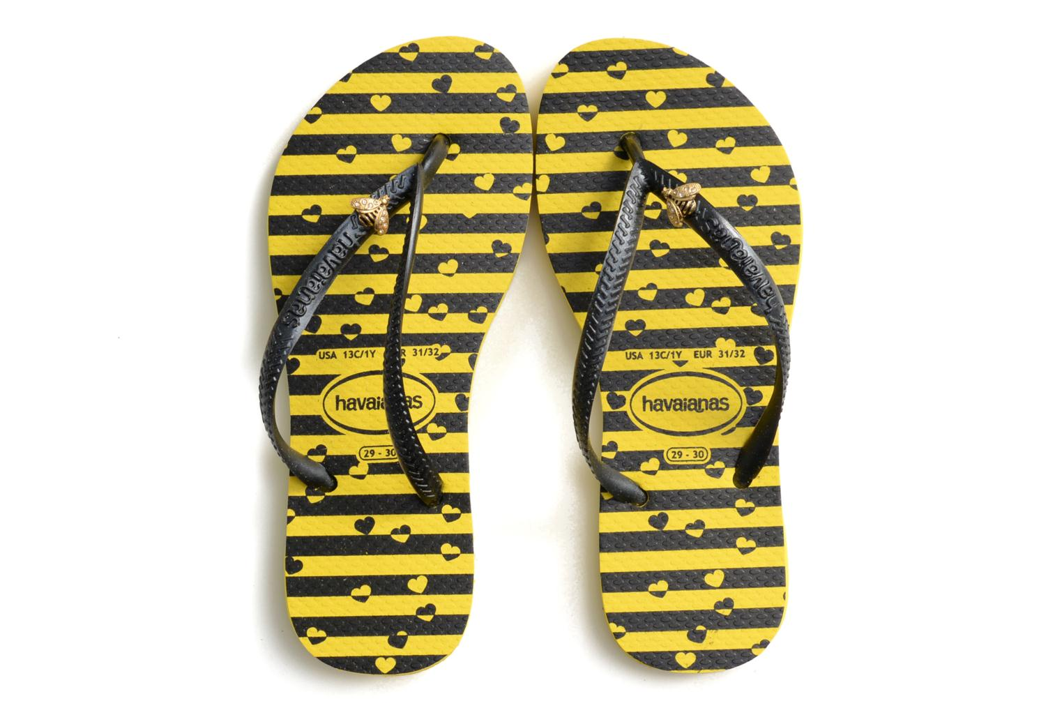 Flip flops Havaianas Kids Slim Bugs Yellow model view