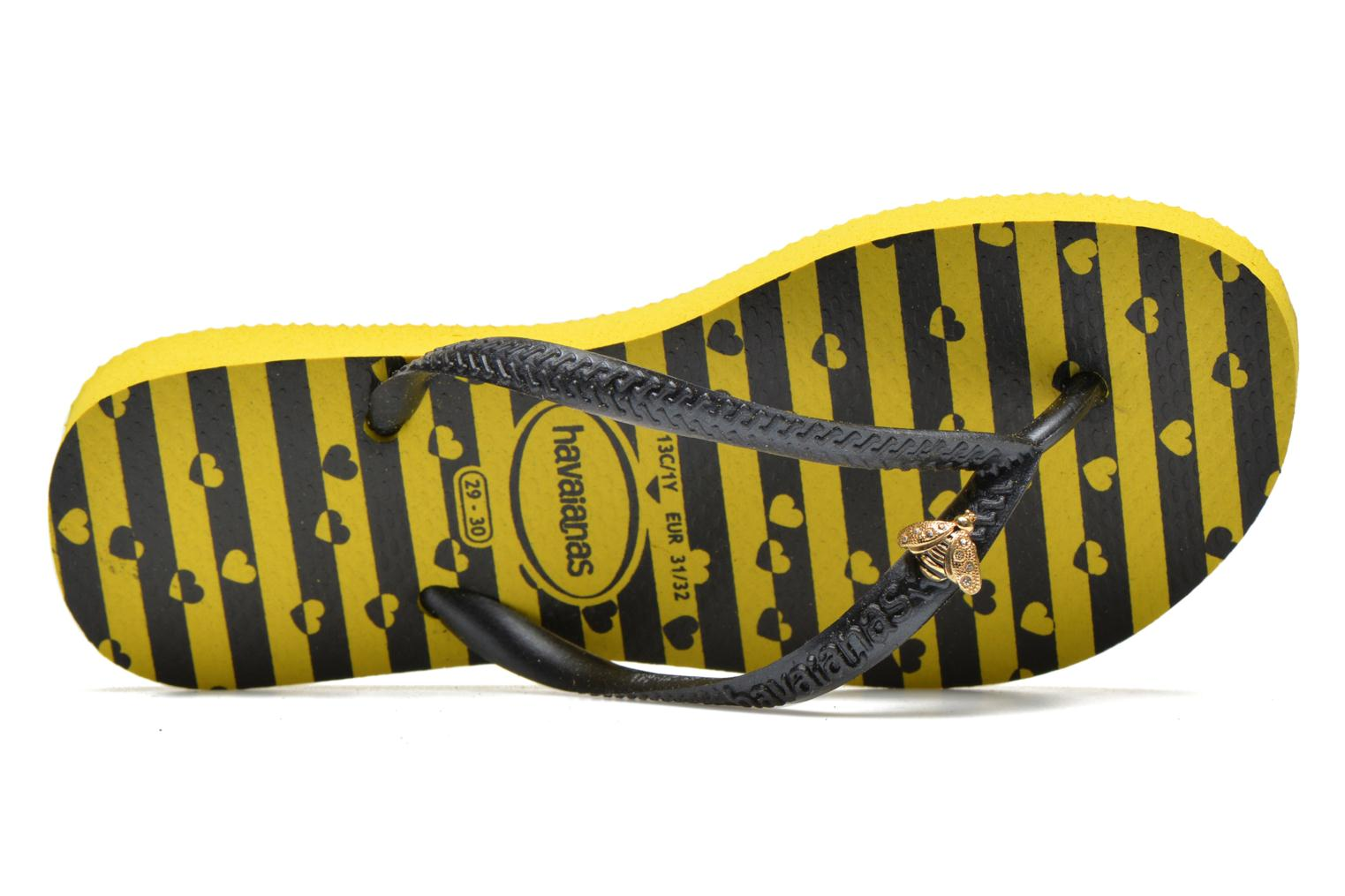 Flip flops Havaianas Kids Slim Bugs Yellow view from the left