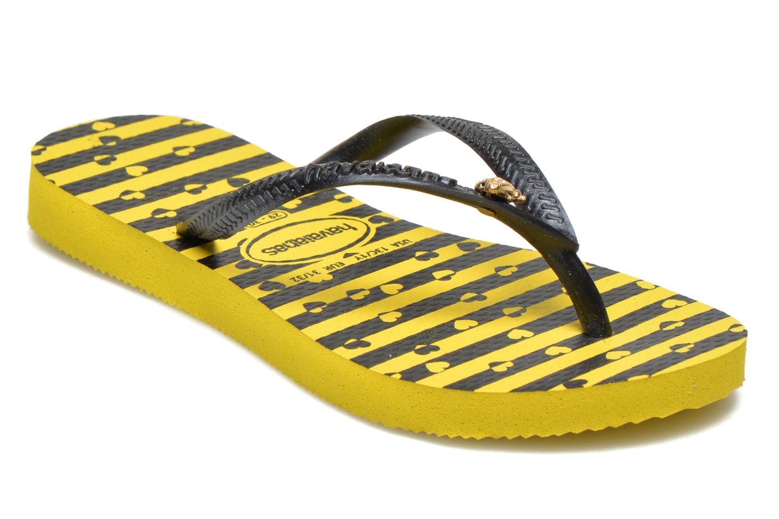 Flip flops Havaianas Kids Slim Bugs Yellow detailed view/ Pair view