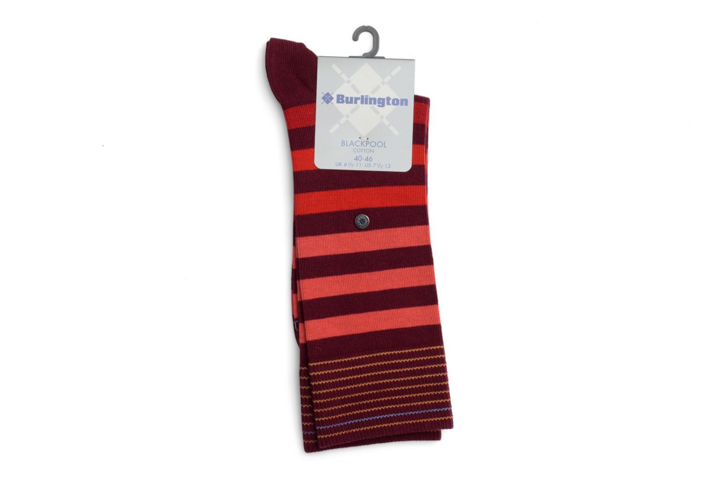 Chaussettes et collants Burlington Chaussettes RAYEES Rouge vue face