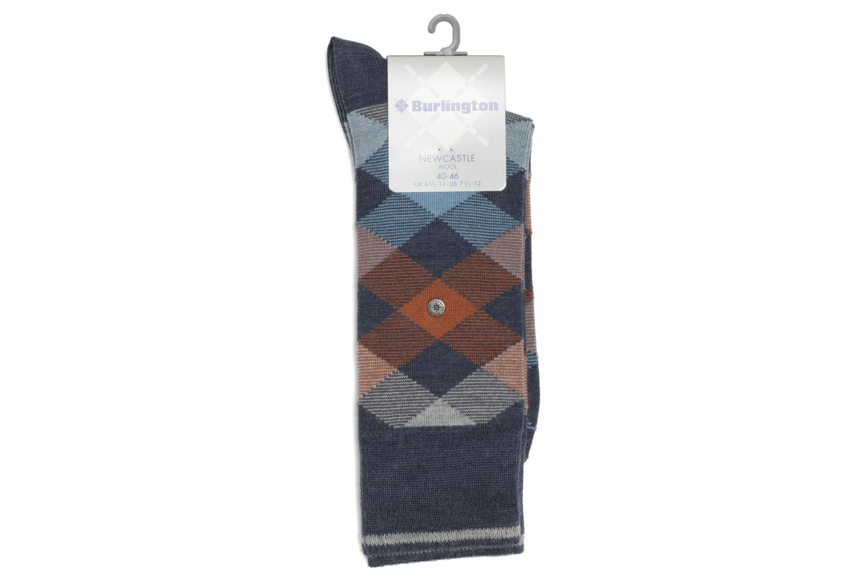 Chaussettes et collants Burlington Chaussettes P.LOSANGES Bleu vue droite