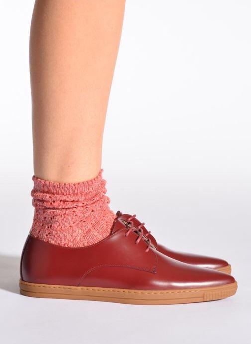 Chaussettes et collants Hop Socks Chaussettes GEOMETRY Rose vue portées chaussures