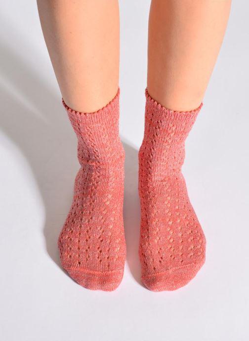 Chaussettes et collants Hop Socks Chaussettes GEOMETRY Rose vue détail/paire