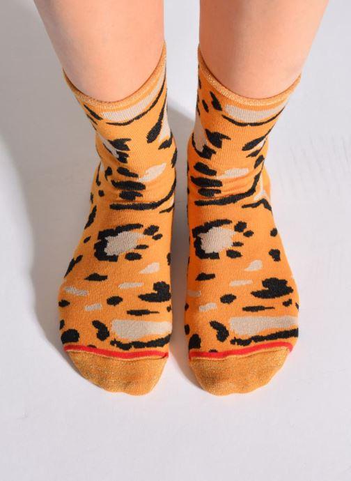 Strumpor och strumpbyxor Hop Socks Strumpor COZY Orange detaljerad bild på paret