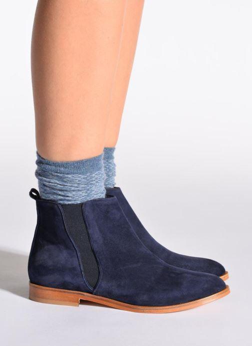Chaussettes et collants Doré Doré Chaussettes CARESSE Bleu vue portées chaussures