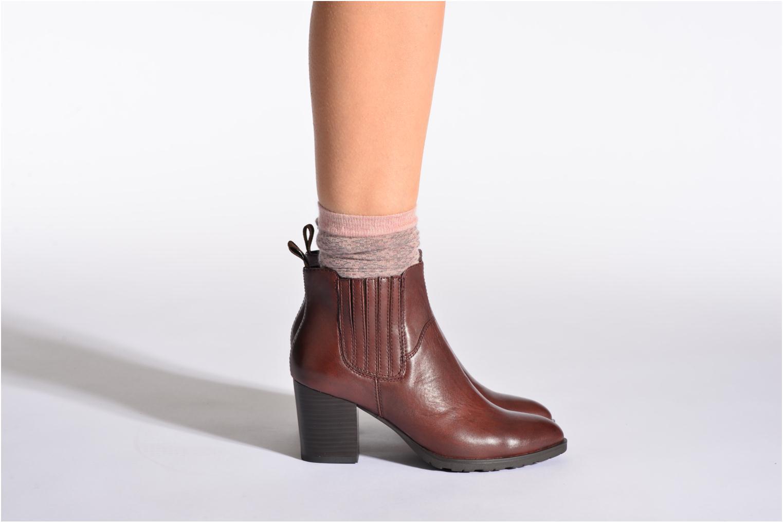 Chaussettes et collants Doré Doré Chaussettes CARESSE Rose vue portées chaussures