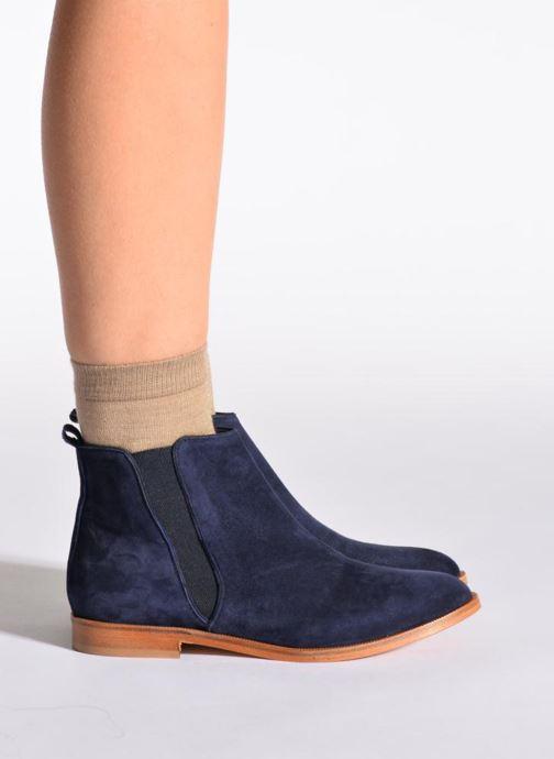 Chaussettes et collants Doré Doré Chaussettes GLITTER Beige vue portées chaussures
