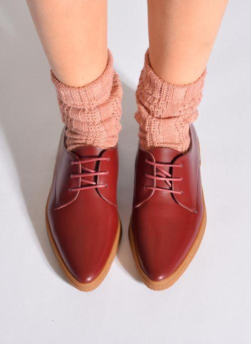 Chaussettes et collants Doré Doré Chaussettes ÉLÉGANCE Rose vue portées chaussures