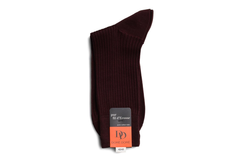 Chaussettes et collants Doré Doré Chaussettes PURETÉ Bordeaux vue droite