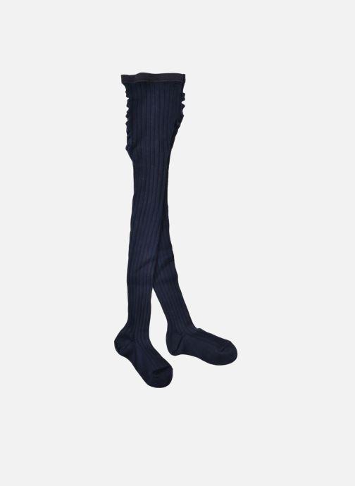 Chaussettes et collants Doré Doré Collant COTON CÔTE Bleu vue portées chaussures