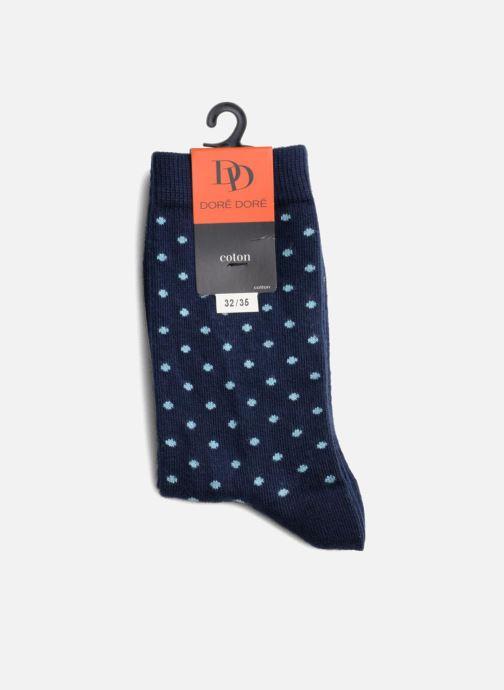 Chaussettes et collants Doré Doré Chaussettes DOTS Bleu vue droite